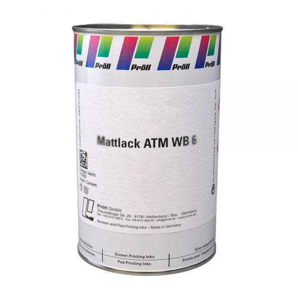 farba Mattlack ATM WB-6 Farby sitodrukowe i lakiery matowe do tarcz wskaźników, Lakiery DualCure lakiery ochronne lakiery do sito sitodruk przemysłowydruku