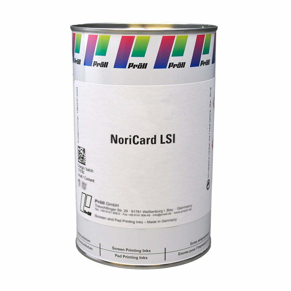 farba NoriCard LSI Systemy do sitodruku na kartach plastikowych sitodruk przemysłowy