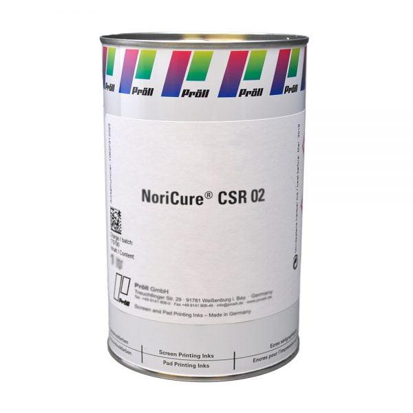 farba NoriCure CSR 02 Farby sitodrukowe utwardzane UV, Systemy do sitodruku na kartach plastikowych sitodruk przemysłowy