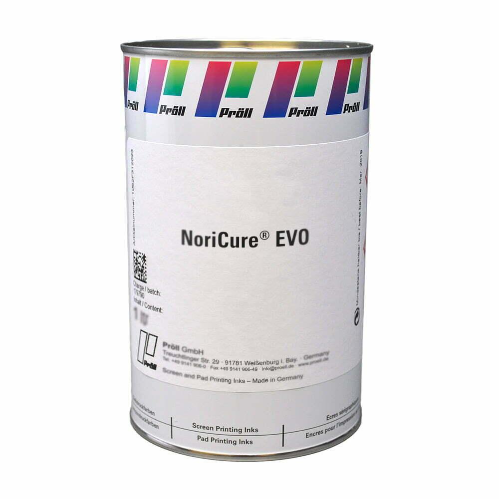farba NoriCure EVO Farby sitodrukowe utwardzane UV, Systemy do sitodruku na kartach plastikowych sitodruk przemysłowy
