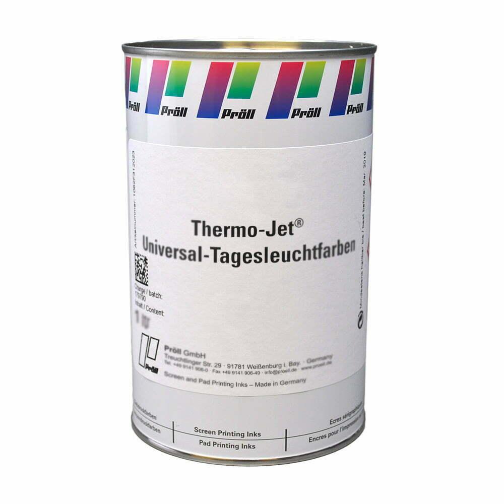 farba Thermo Jet Universal Tagesleuchtfarben Farby sitodrukowe rozpuszczalnikowe sitodruk przemysłowy